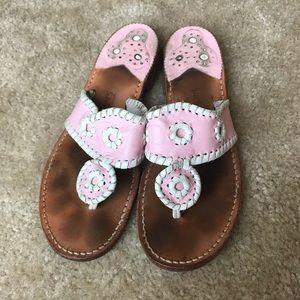 Jack Rogers Navajo Sandal Pink/White
